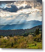 Blue Ridge Parkway North Carolina Mountains Gods Country Metal Print