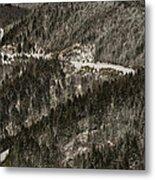 Blue Ridge Parkway With Snow - Aerial Photo Metal Print