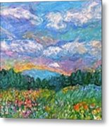 Blue Ridge Wildflowers Metal Print