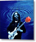 Blue Ripple From A Red Rose Metal Print