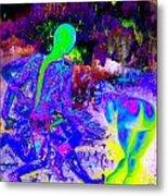 Blue Rock 'n' Roll Metal Print