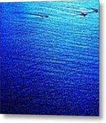 Blue Sand Abstract Metal Print