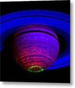 Blue Saturn 1 Metal Print