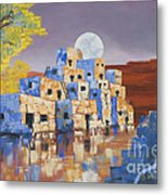 Blue Serpent Pueblo Metal Print by Jerry McElroy