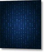 Blue Shining Pattern. Vector Background Metal Print