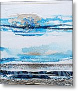 Blue Shore Rhythms And Textures IIi Metal Print
