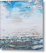 Blue Shore Rhythms And Texturesii Metal Print