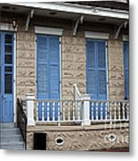 Blue Shutters On Toulouse Metal Print