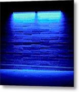 Blue Sidewalk Metal Print