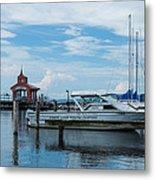 Blue Skies Over Seneca Lake Marina Metal Print