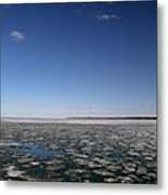 Blue Sky Above The Ice 2  Metal Print