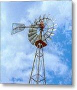 Blue Sky Aermotor Windmill Metal Print