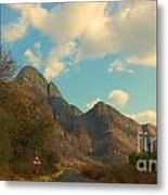 Blue Sky And Mountains Metal Print