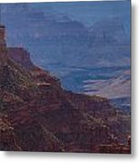 Blue Sky And Red Mountains Metal Print