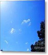 Blue Sky And Sunshine Metal Print