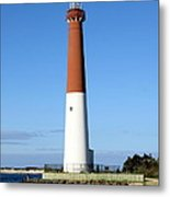 Blue Sky Blue Sea  And Barnegat Light Metal Print