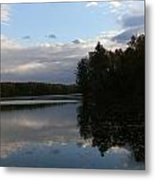 Blue Sky Clouds And Reflections Metal Print