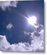 Blue Sky Clouds And Sunshine Metal Print