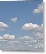 Blue Sky Clouds Metal Print