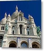 Blue Sky Over Sacre Coeur Basilica Metal Print