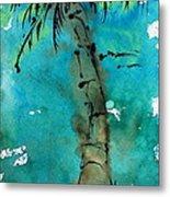 Blue Sky Palm Metal Print