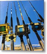 Blue Sky Rods Metal Print