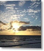 Blue Sky Sunrise Metal Print