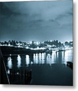Blue Skys And City Lights Metal Print by Sheldon Blackwell