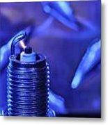 Blue Spark Metal Print