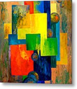 Blue Squared Metal Print by Larry Martin