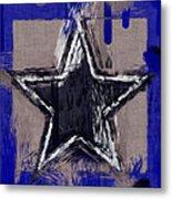 Blue Star Abstract Metal Print