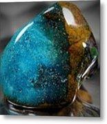 Blue Stone Metal Print