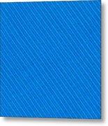 Blue Striped Diagonal Textile Background Metal Print