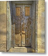 Blue Stripped Door Metal Print