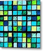 Blue Sudoku Metal Print