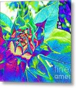 Blue Sunflower Metal Print