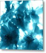Blue Sunlight Fusion Metal Print