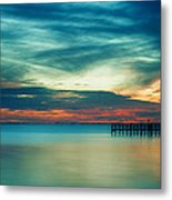 Blue Sunset Metal Print by Christopher Blake
