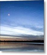 Grapevine Lake Blue Sunset Metal Print