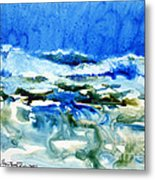 Blue Surf Metal Print