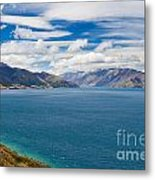 Blue Surface Of Lake Hawea In Central Otago Of New Zealand Metal Print