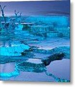 Blue Terrace Metal Print