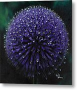 Blue Thistle Metal Print