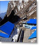 Blue Tin Roof Metal Print
