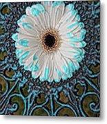 Blue Tipped Flower Metal Print