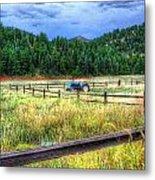 Blue Tractor Deckers Colorado Metal Print