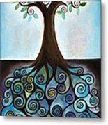 Blue Tree Metal Print
