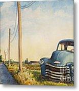 Blue Truck North Fork Metal Print