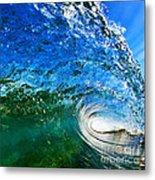 Blue Tube Metal Print