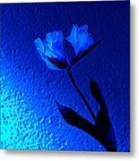Blue Tulip Metal Print